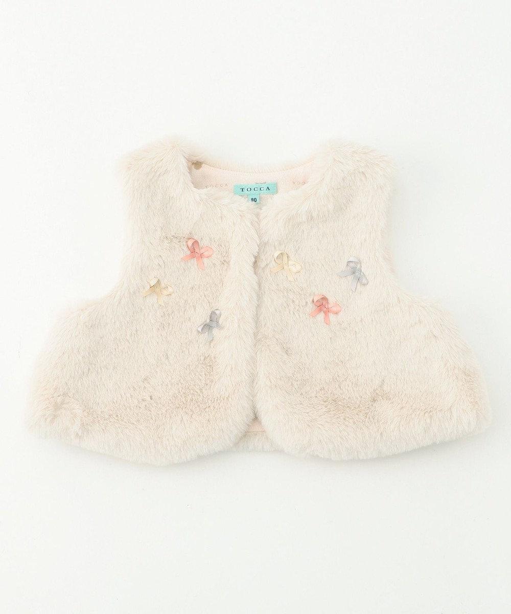 TOCCA BAMBINI 【BABY】プティファーベスト アイボリー系