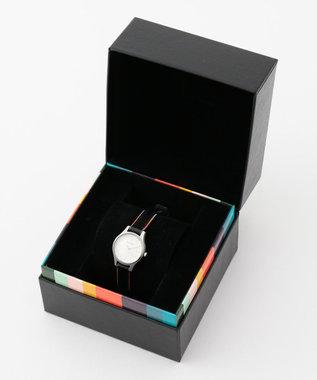 Paul Smith ザシティミニプリントレザー 腕時計 ホワイト系