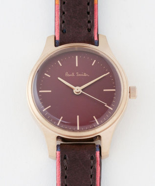 Paul Smith ザシティミニプリントレザー 腕時計 ワイン系