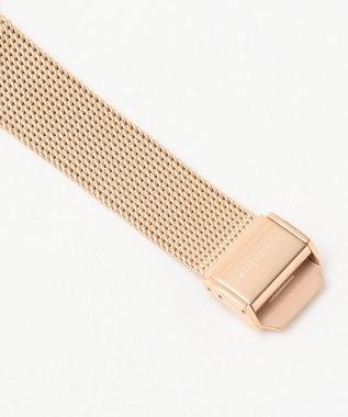 CK CALVIN KLEIN MEN ミニマル文字盤ブラックメッシュブレス 腕時計 ブラック系