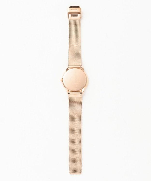 CK CALVIN KLEIN MEN ミニマル文字盤ブラックメッシュブレス 腕時計