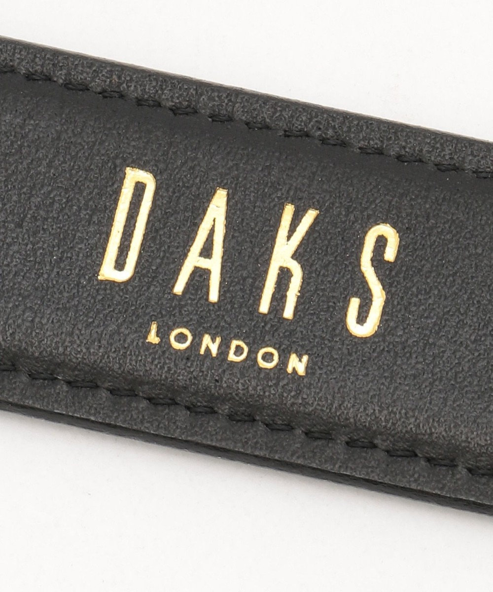 DAKS プリズムレザーコロ式 ベルト ブラック系