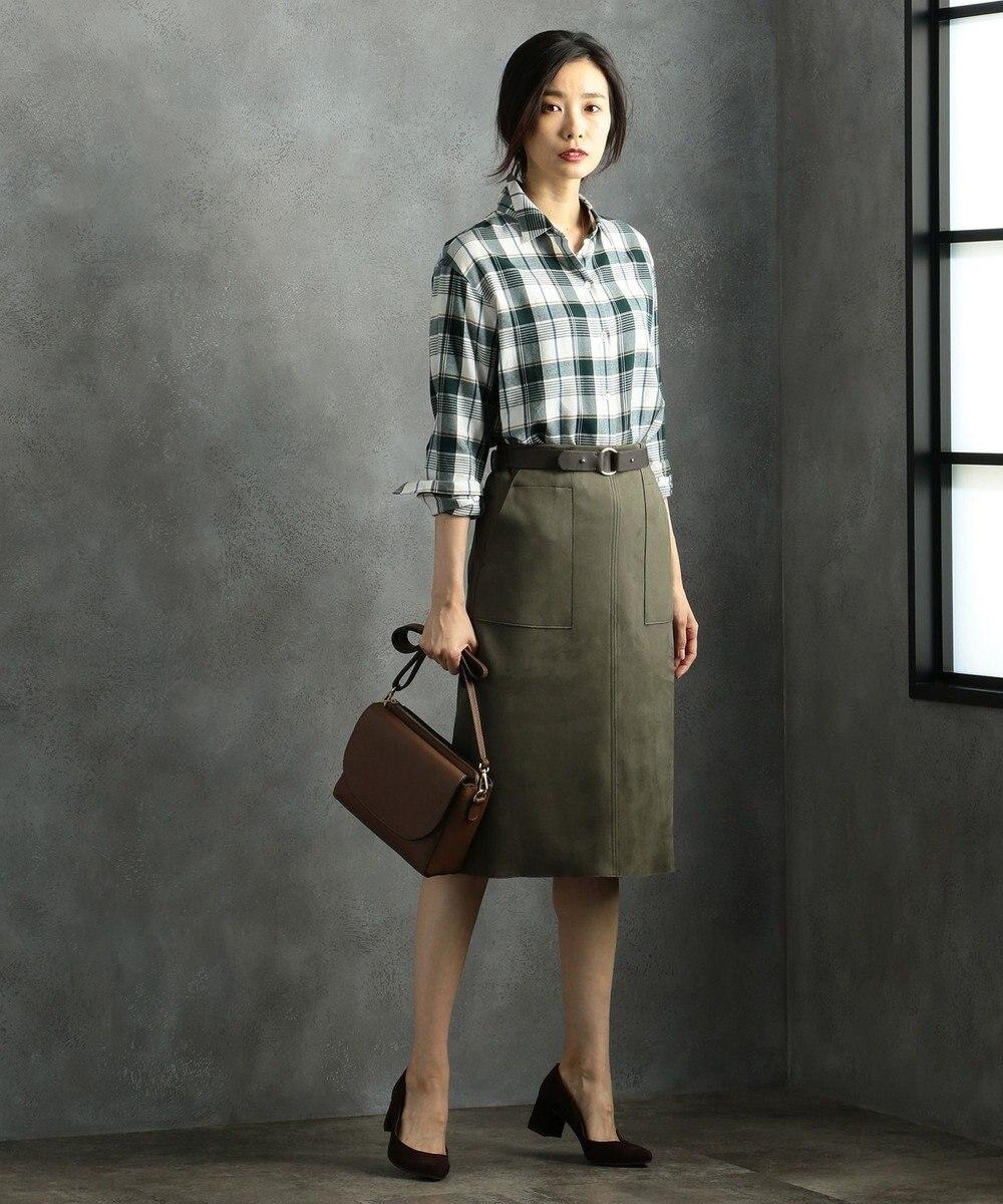 J.PRESS LADIES 【サイズ調節可】リング ベルト ブラウン系