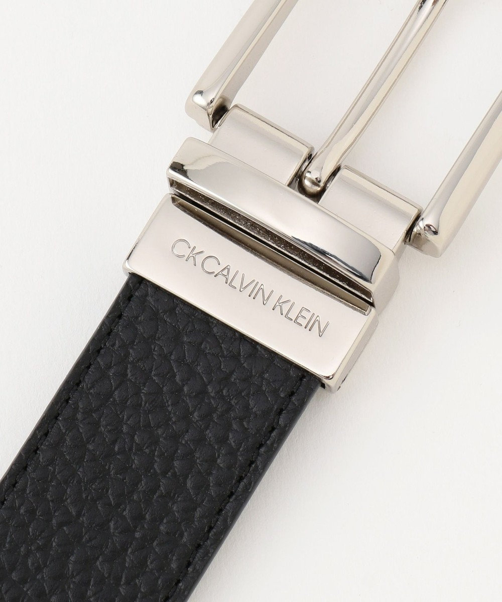 CK CALVIN KLEIN MEN 【ベーシック】型押しレザーベルト ブラック系