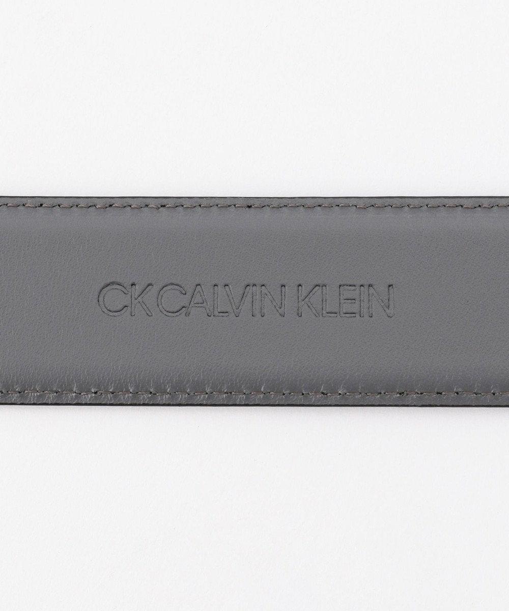 CK CALVIN KLEIN MEN スクエアバックル レザー ベルト ネイビー系