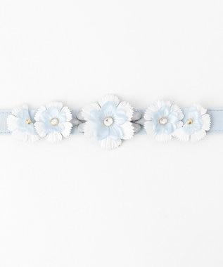 TOCCA SUNSHINE FLOWER BELT ベルト スカイブルー系