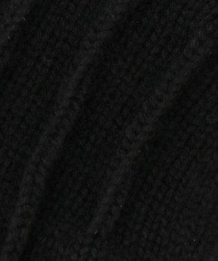 GOTAIRIKU 【ALPO】カシミヤ混 レザーパッチ ニット グローブ ブラック系