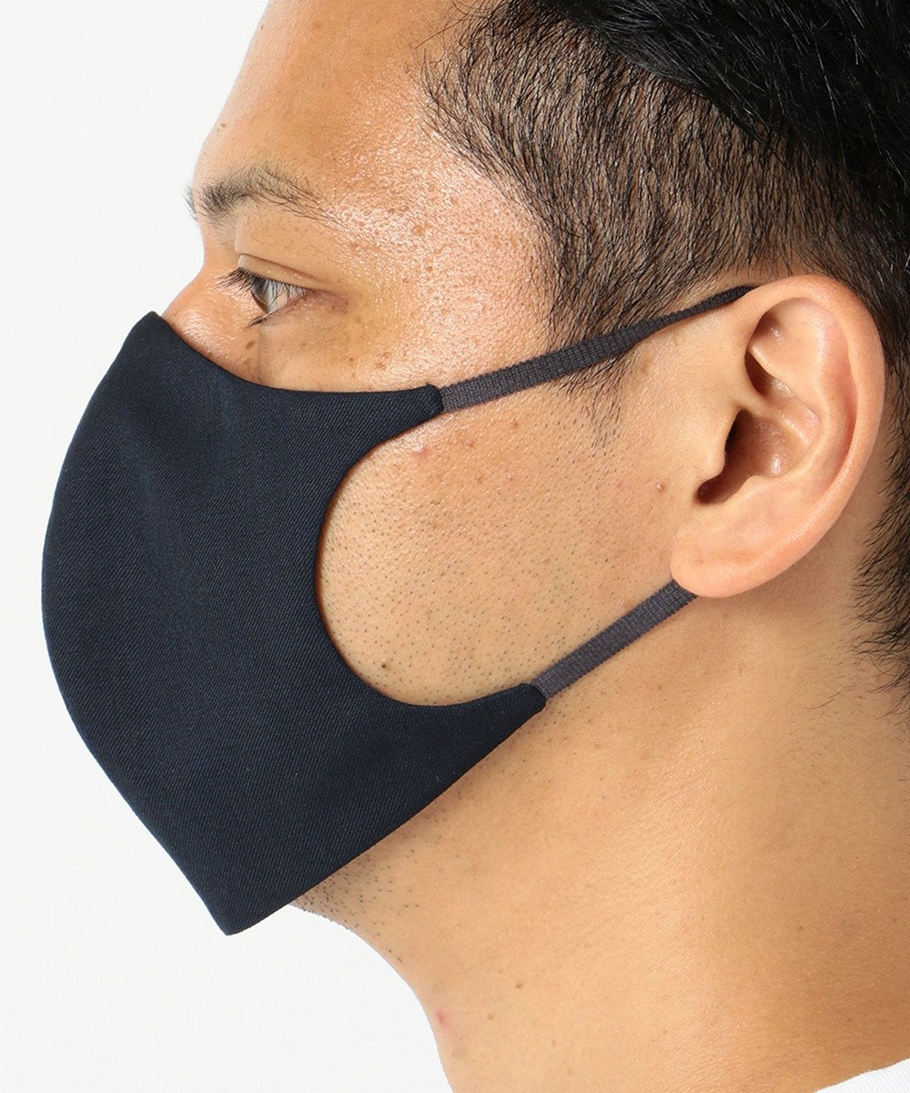 GOTAIRIKU 【日本製】【吸湿性 / 抗菌性】DORMEUIL ウールマスク ネイビー系