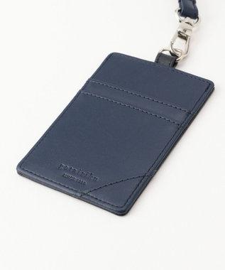 GOTAIRIKU 【TINY LEATHER COLLECTION】パスケース × 名刺ホルダー (カードケース) ネイビー系