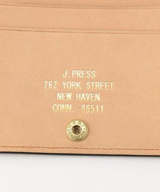 J.PRESS MEN 【カタログ掲載】オリジナルレザー カードケース ブラウン系