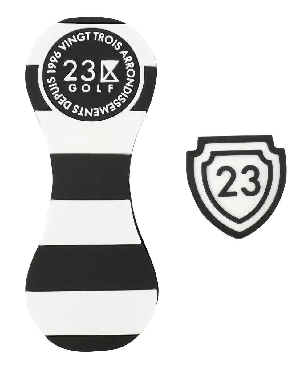 23区GOLF 【UNISEX】ボーダーPVCマーカー ブラック系1