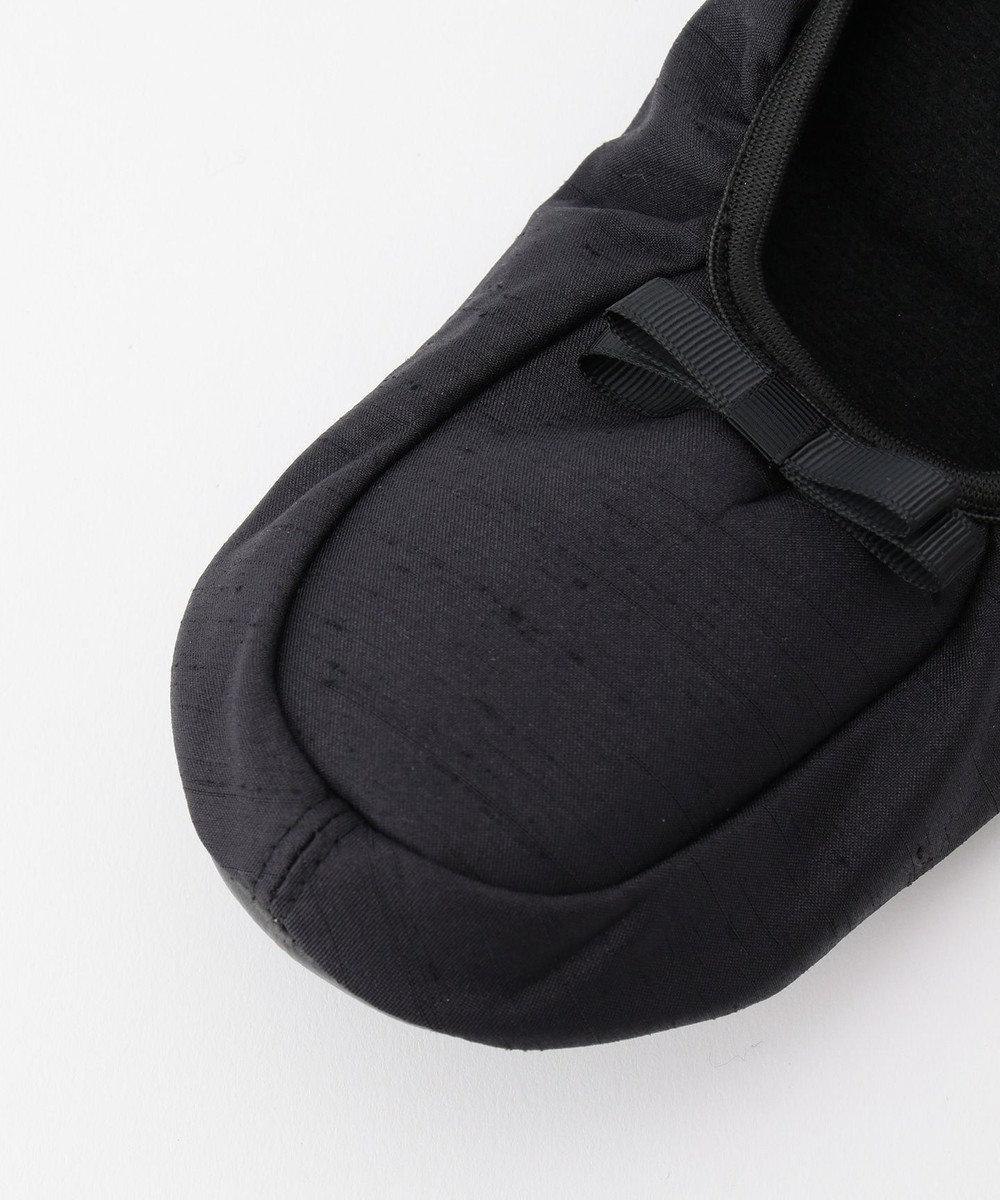 J.PRESS LADIES 【持ち運べる】折り畳み バレエシューズ型 スリッパ ブラック系