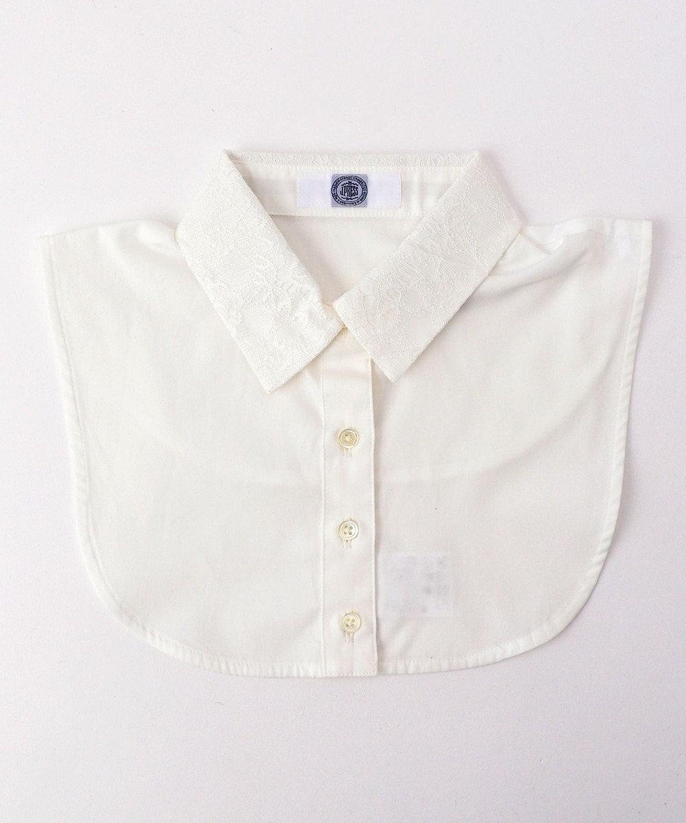 J.PRESS LADIES 【洗える】レースデコカラー 付け襟 ホワイト系