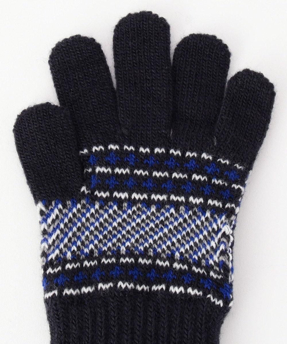 J.PRESS KIDS アーガイル 手袋 ネイビー系