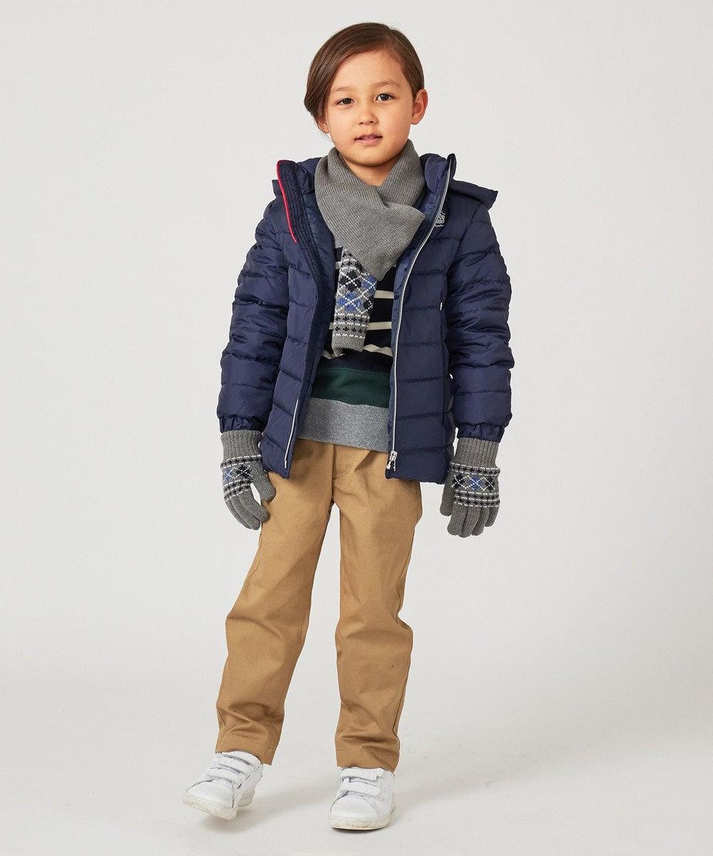J.PRESS KIDS アーガイル 手袋 グレー系