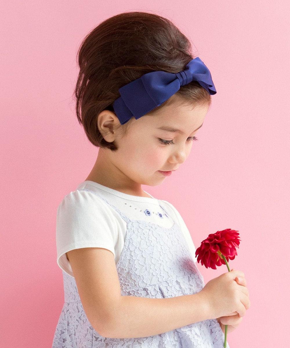 組曲 KIDS 【KIDS雑貨】グログランカチューシャ ネイビー系