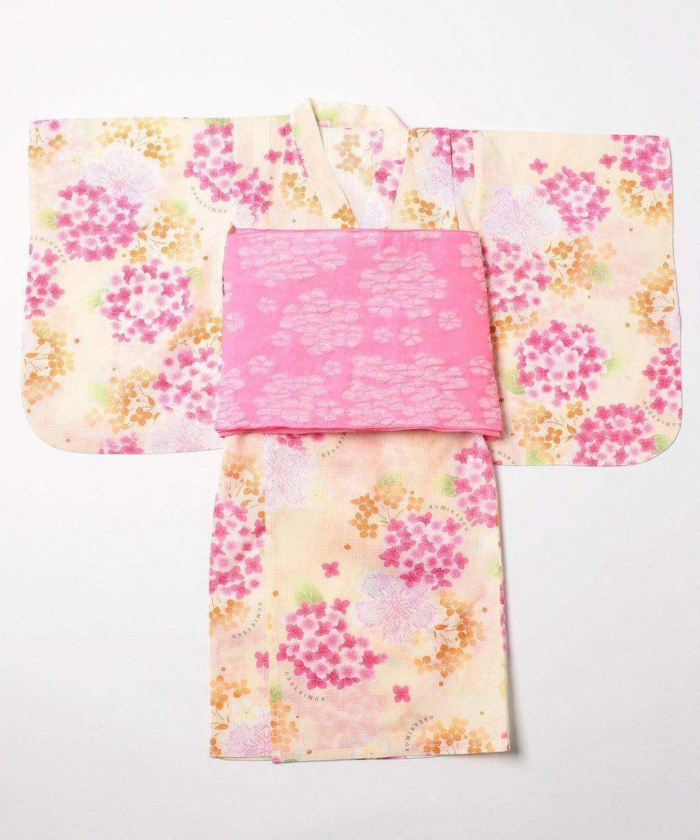 組曲 KIDS 【TODDLER】浴衣 (3点セット) アイボリー系