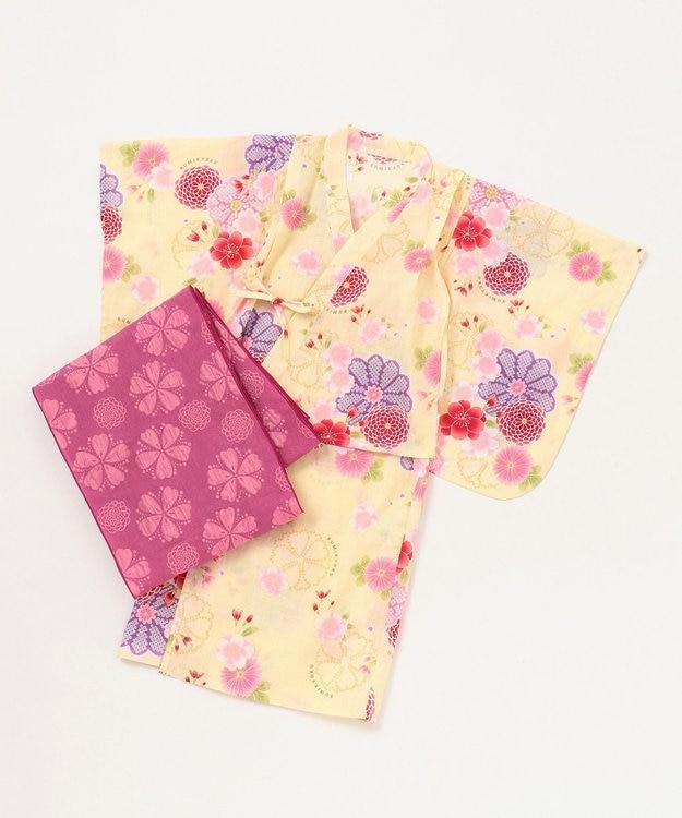 組曲 KIDS 【KIDS雑貨】万寿菊と桜 浴衣