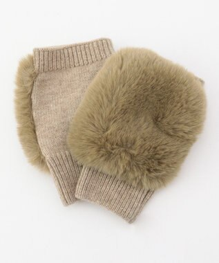 ICB Eco Fur アームグローブ ベージュ系