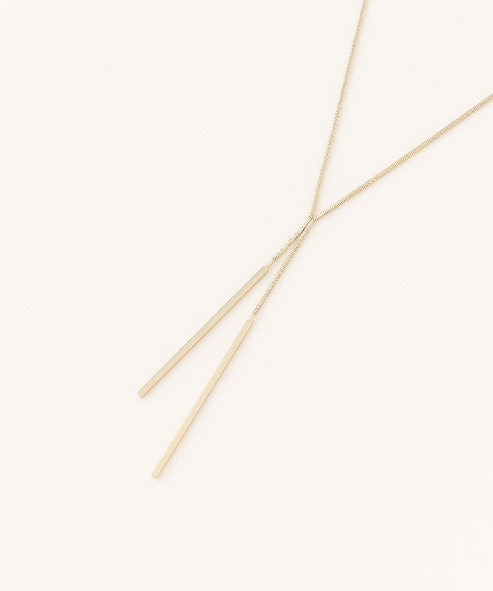 ICB 【Utilism】Simple Straight Chain ネックレス ゴールド系