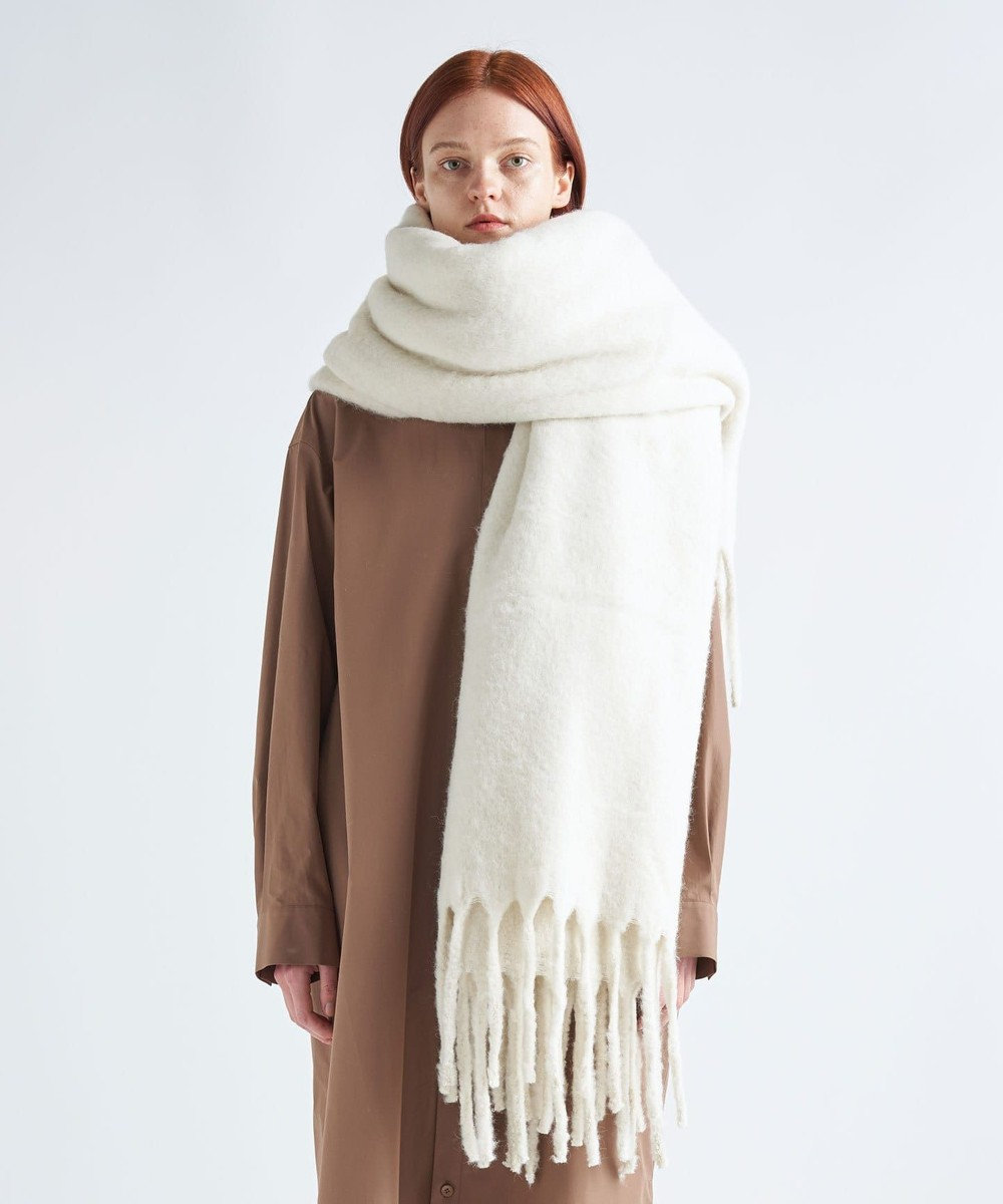 ATON BABY ALPACA   ビッグスカーフ - UNISEX WARM WHITE