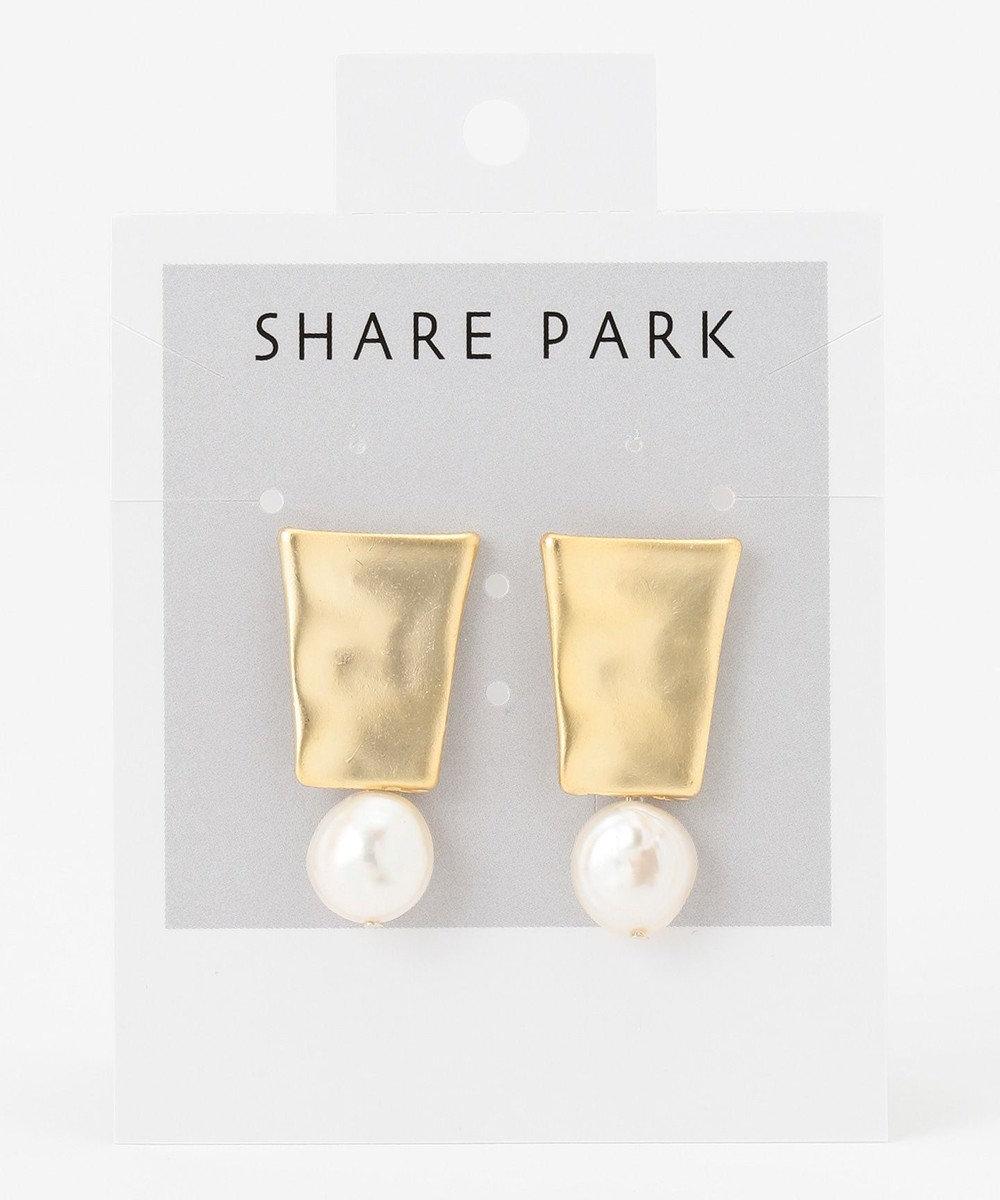 SHARE PARK LADIES エジプシャントラペゾイドピアス ゴールド系