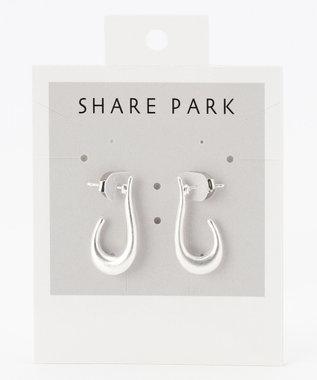 SHARE PARK LADIES ホックデザインピアス シルバー系