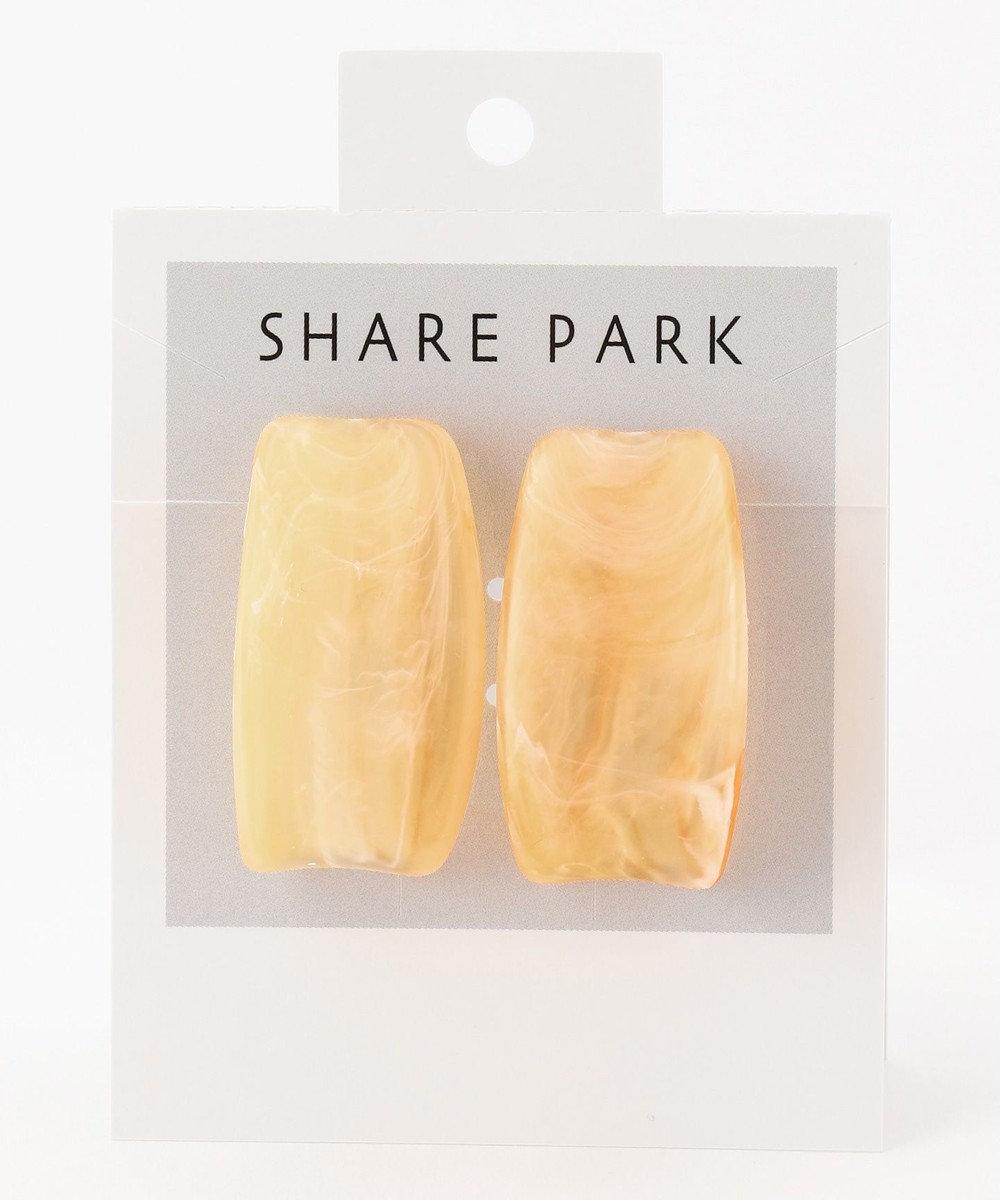 SHARE PARK LADIES レジンカーブピアス オレンジ系