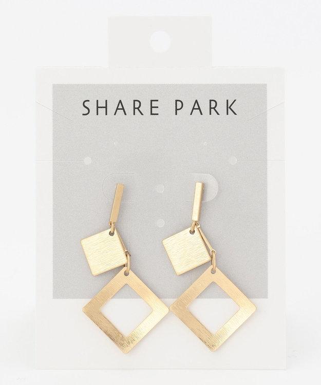 SHARE PARK LADIES スクエアペアピアス