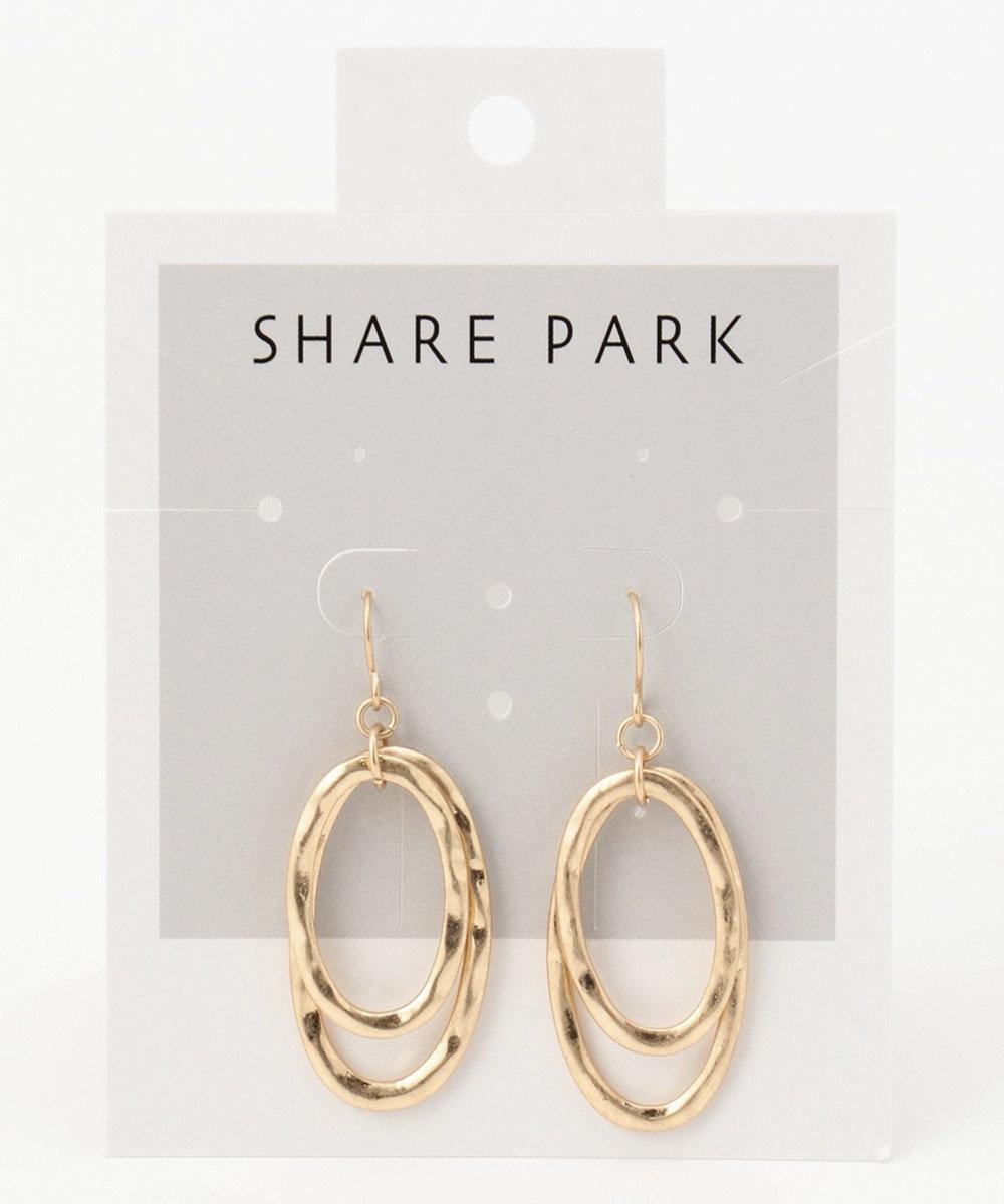 SHARE PARK LADIES ダブルラウンドピアス ゴールド系