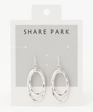 SHARE PARK LADIES ダブルラウンドピアス シルバー系