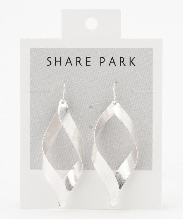SHARE PARK LADIES フラットリボンピアス
