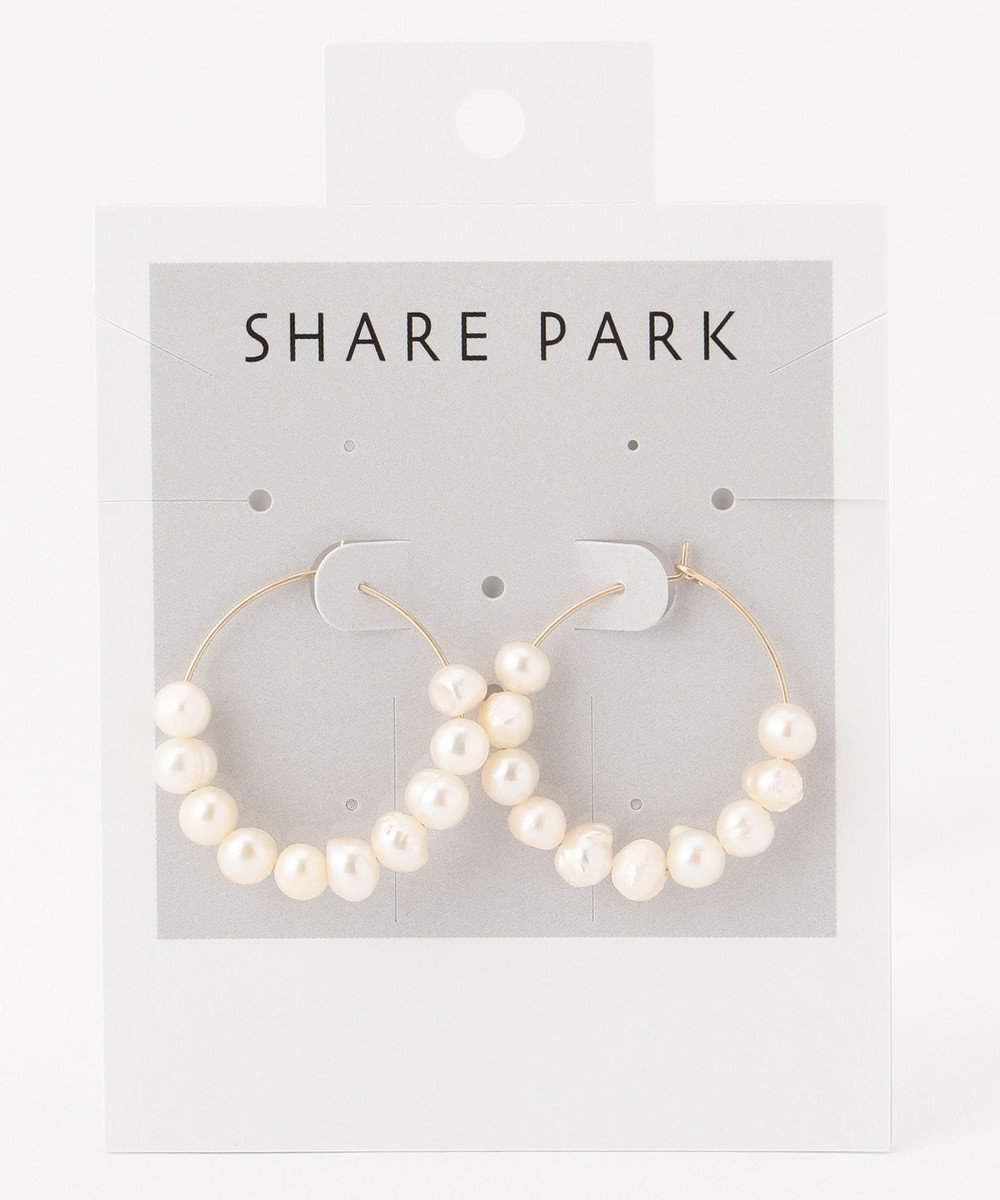 SHARE PARK LADIES パールドットフープピアス ゴールド系