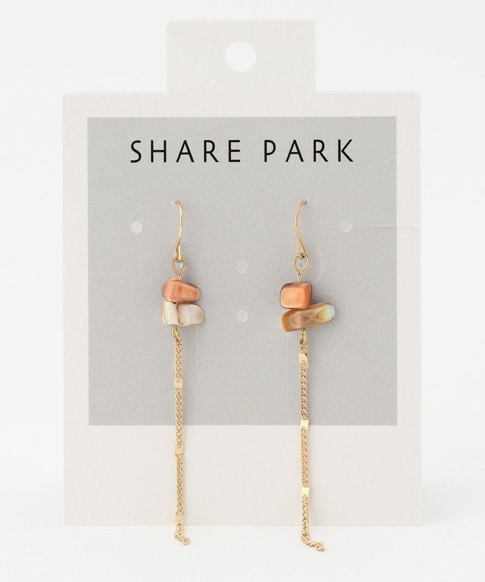 SHARE PARK LADIES 天然石風ツブピアス ピンク系