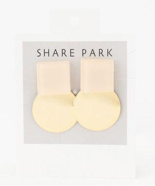 SHARE PARK LADIES ストラトゥムカラーピアス アイボリー系