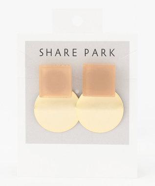 SHARE PARK LADIES ストラトゥムカラーピアス ブラウン系