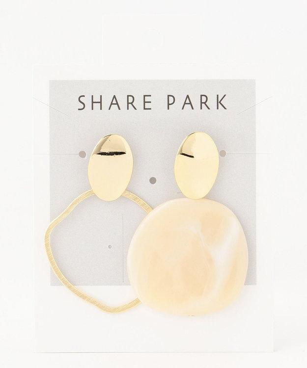 SHARE PARK LADIES アシンメトリーレジンピアス