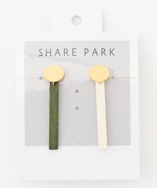 SHARE PARK LADIES トンツーピアス ホワイト系