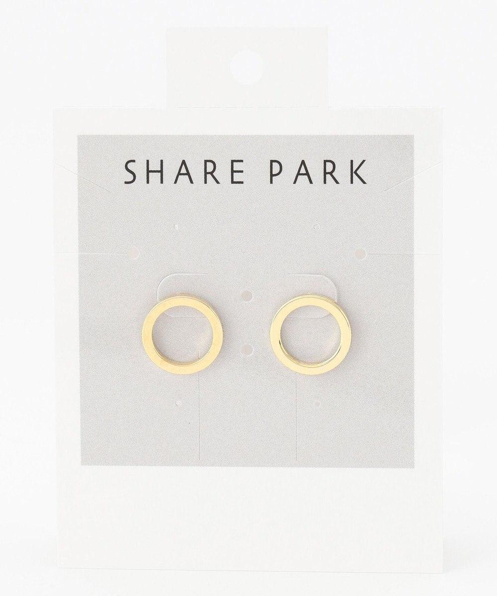 SHARE PARK LADIES フラットリングラウンドピアス ゴールド系