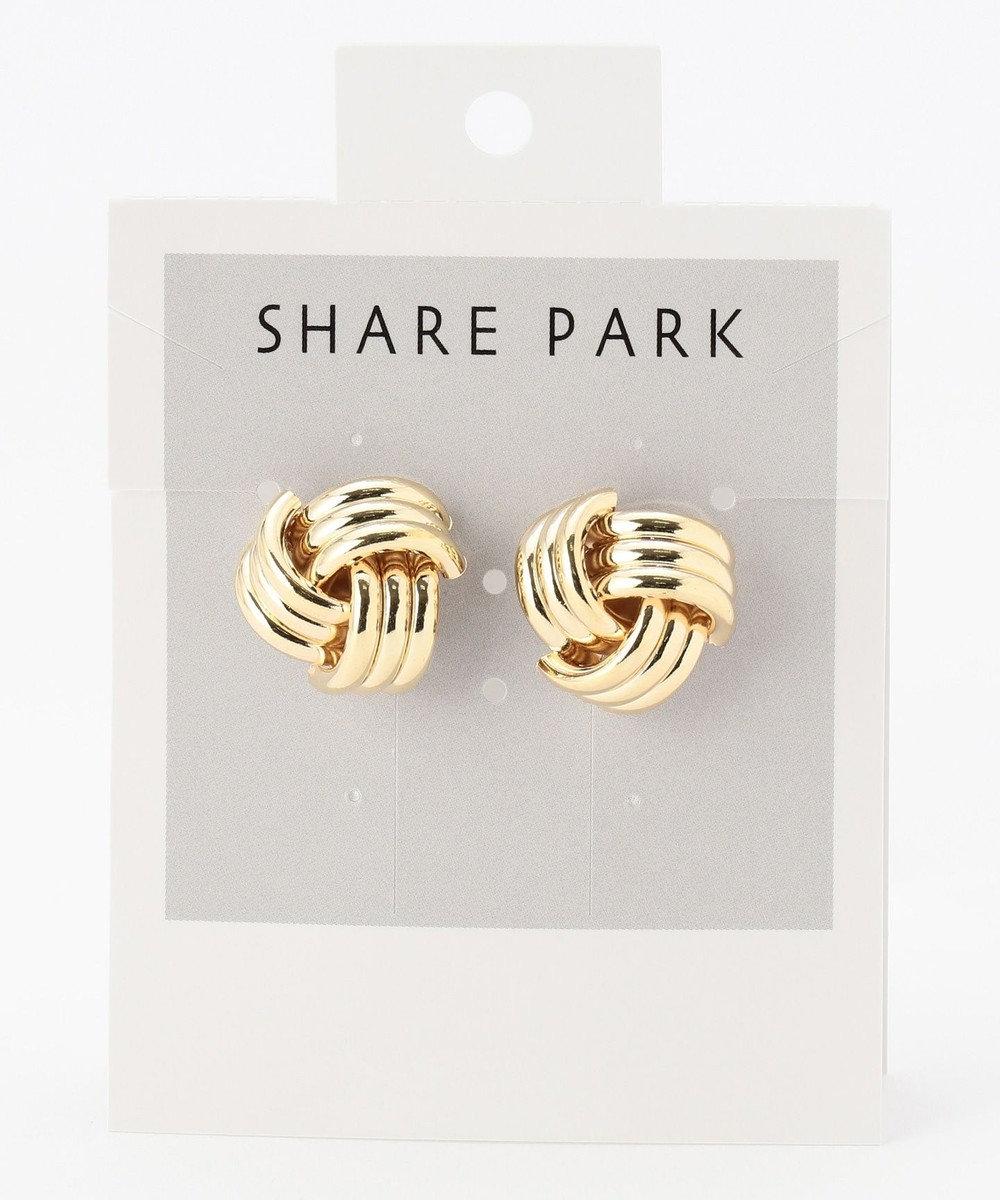 SHARE PARK LADIES メタルラティスピアス ゴールド系