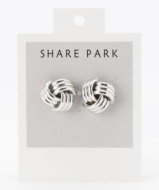 SHARE PARK LADIES メタルラティスピアス シルバー系