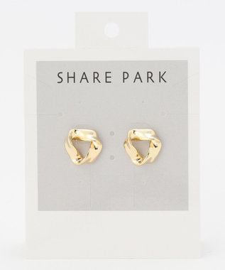 SHARE PARK LADIES トライアングルキャンディピアス ゴールド系