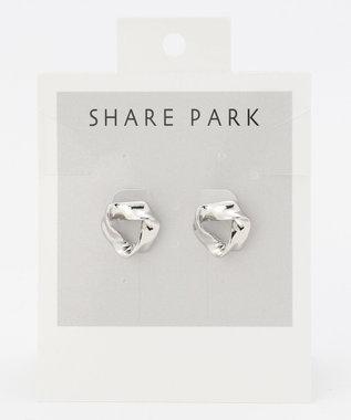 SHARE PARK LADIES トライアングルキャンディピアス シルバー系