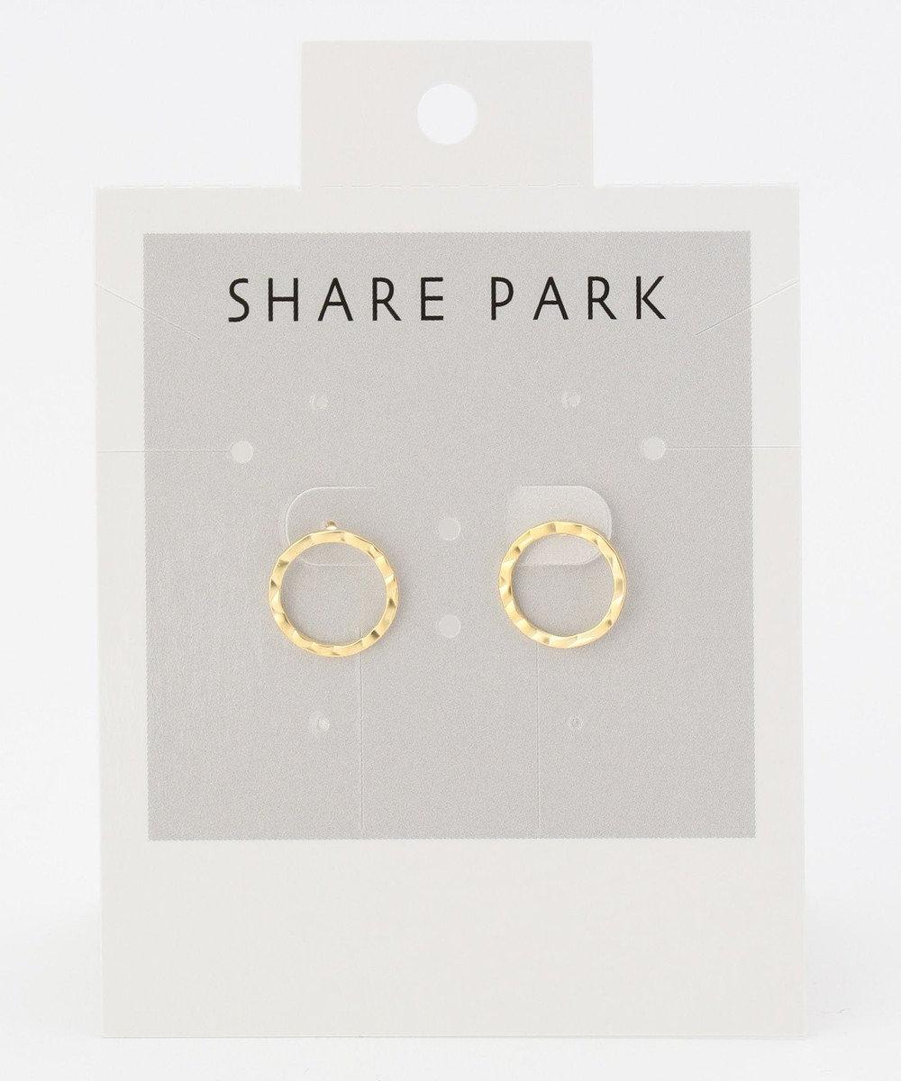 SHARE PARK LADIES パーフェクトサークルピアス ゴールド系