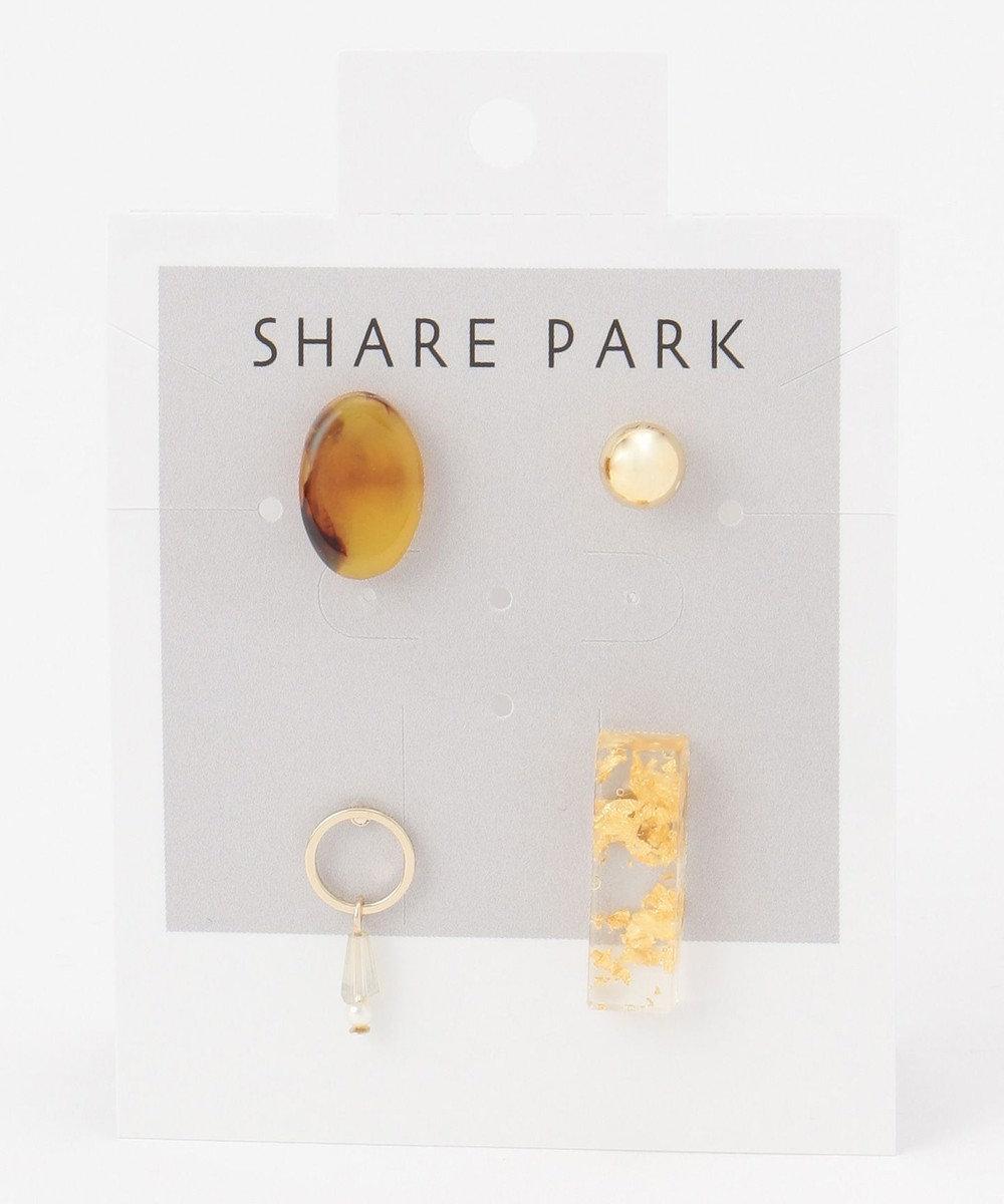 SHARE PARK LADIES マルチプラネットセットピアス2 ゴールド系