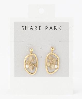 SHARE PARK LADIES レジンメモリピアス ホワイト系