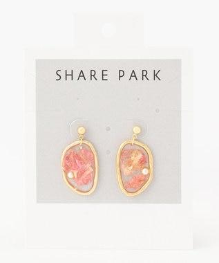 SHARE PARK LADIES レジンメモリピアス ピンク系