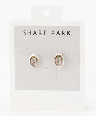 SHARE PARK LADIES ツブストーンライクピアス シルバー系