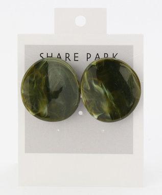 SHARE PARK LADIES ラップラウンドレジンピアス グリーン系