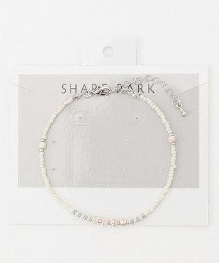 SHARE PARK LADIES ビーズミックスブレス ホワイト系